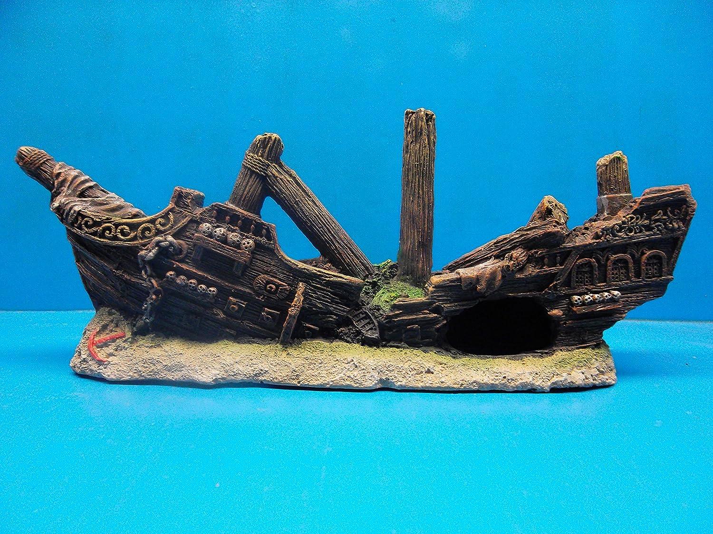 Amazon Com Sunken Pirate Shipwreck Ruins Fantasea Ws081 Aquarium