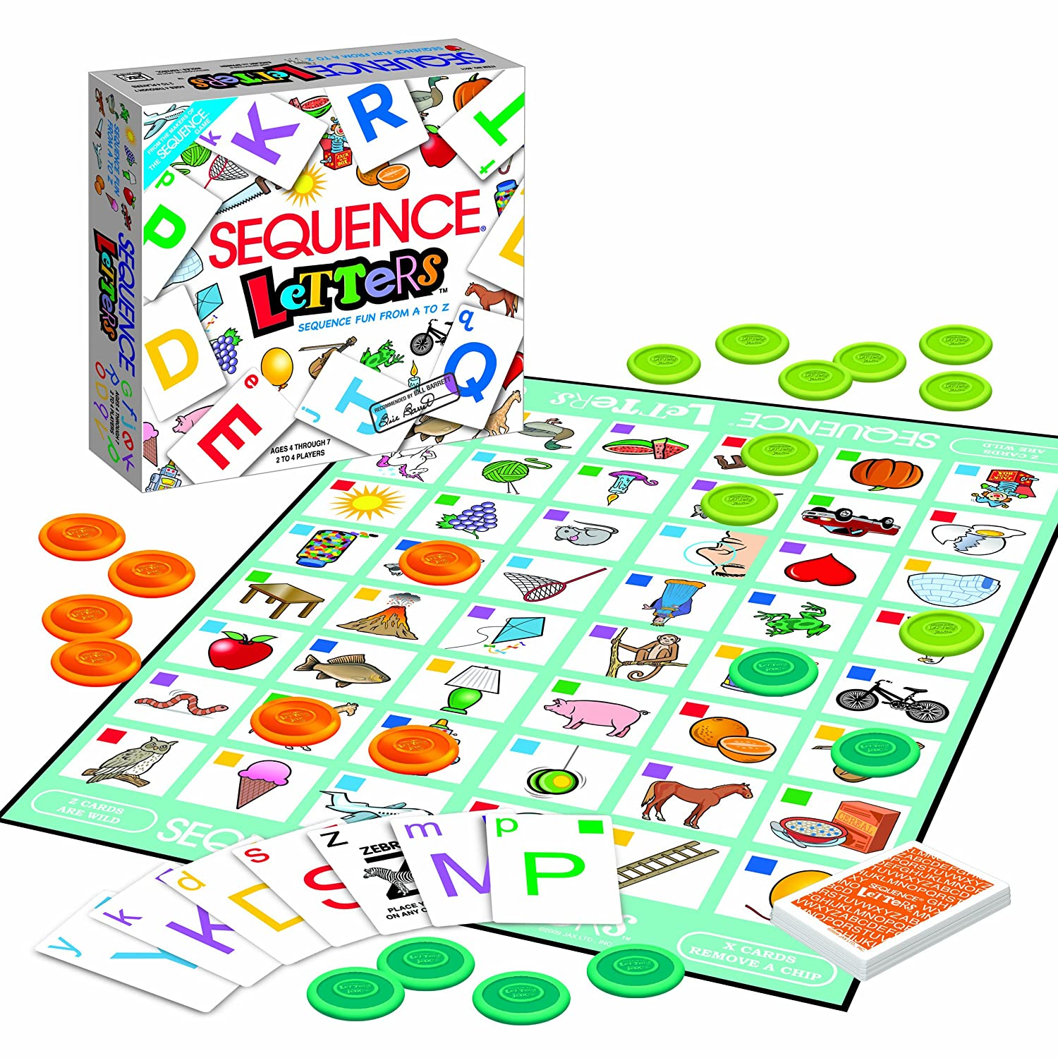 AmazonCom Jax Sequence Letters Toys  Games