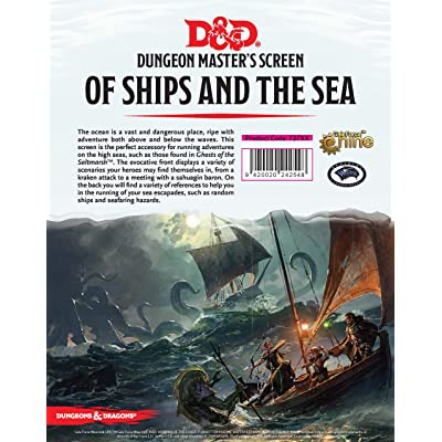 Gale Force Nine Dungeons & Dragons of Ships and The Sea DM Screen: Toys & Games