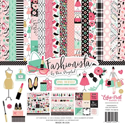 Amazon Echo Park Paper Company Fashionista Collection Kit