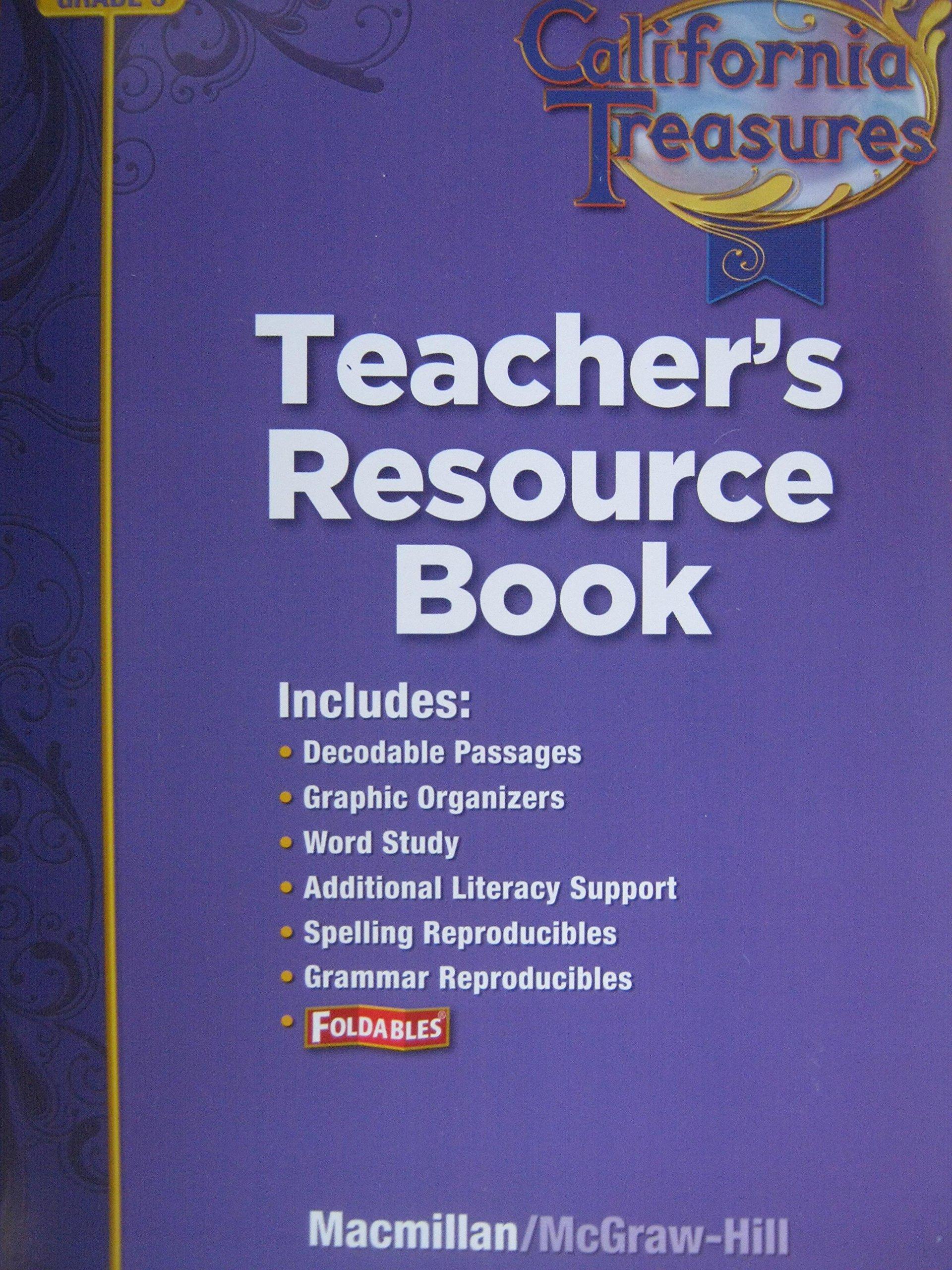 California Treasures Grade 5 Teacher's Resource Book:  Macmillan/McGraw-Hill: 9780022020699: Amazon.com: Books
