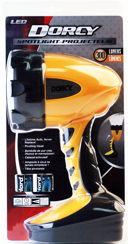 41-4296 Dorcy 500-Lumen Water Resistant Swivel Head LED Spotlight Yellow