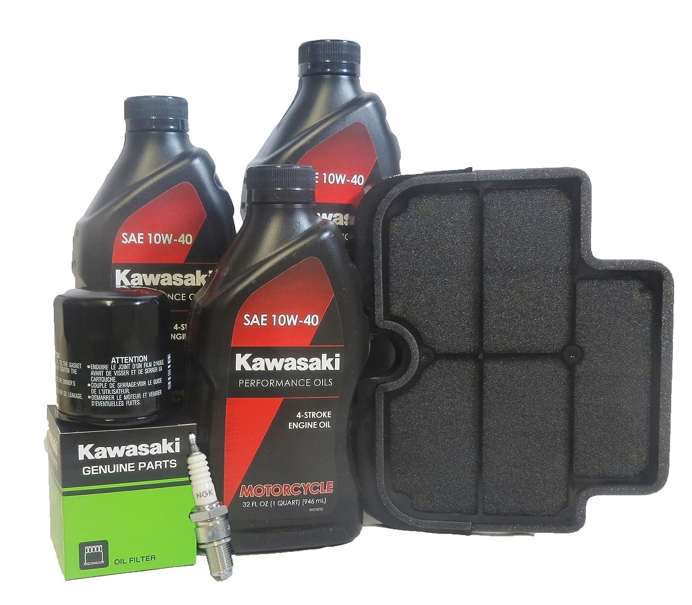 amazon com: 2009-2010 kawasaki er-6n complete maintenance kit: automotive