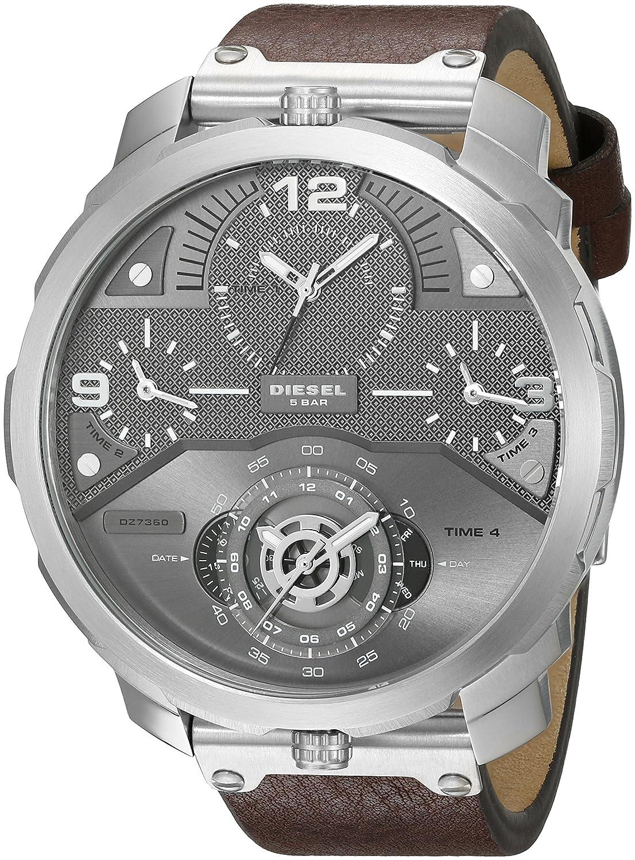 f0931efbc Diesel Men's Quartz Watch, Analog Display and Leather Strap DZ7360:  Amazon.ae