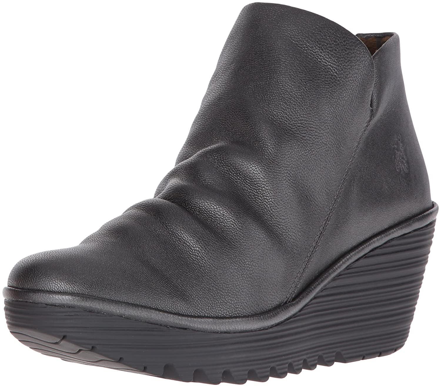 FLY London Women's Yip Boot B00UOXSU28 40 M EU / 9 B(M) US|Graphite Borg