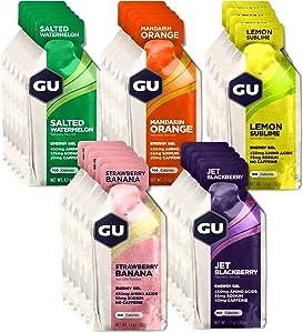 GU Energy Original Sports Nutrition Energy Gel, Assorted Fruity Flavors, 24 Count Box