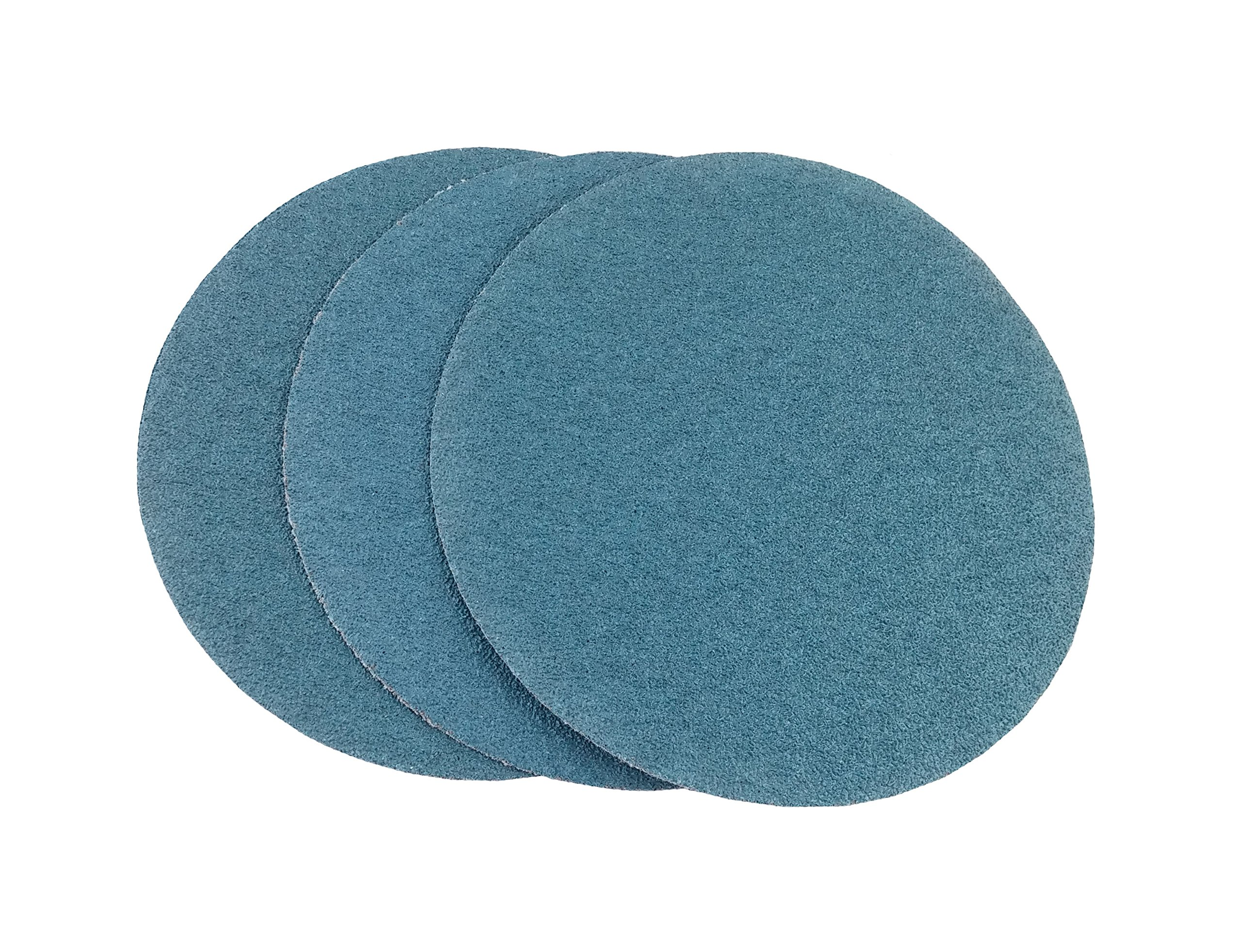 8'' Blue Zirconia Cloth Hook and Loop Sanding Discs (50 Pack, 80 Grit) by Perfect Sanding Supply by Abrasive Resource (Image #1)