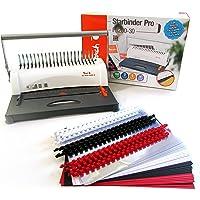 Peach PB200-30 Plastikbindegerät | Star Binder Pro - DIN-A4 |bindet 350 Blatt |max. 38 mm Binderücken | 12 Blatt Stanzkapazität | inkl. 75-teiligem Starterset