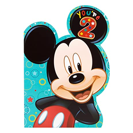 Mickey Mouse 2nd Birthday Card