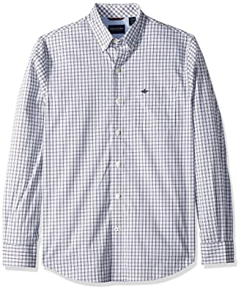 8bfba2564b2 Image Unavailable. Image not available for. Color  Dockers Men s Long  Sleeve Button Front Comfort Flex Shirt ...