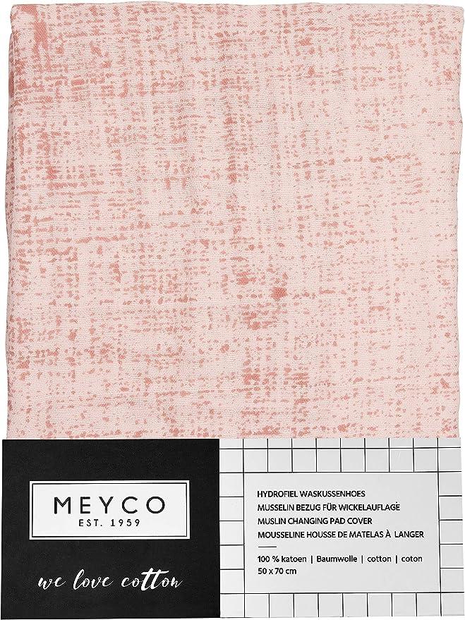 Meyco 468023 Housse de matelas /à langer en mousseline 100/% coton 45 x 70 cm