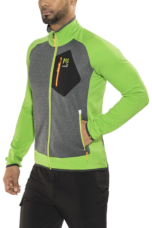 Karpos Odle Fleece Jacket Herren Apple Green/Dark Grey 2019 Funktionsjacke