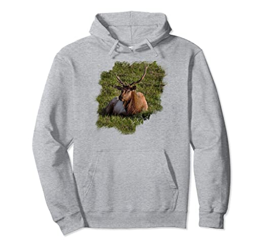 Elk Sitting Pullover Hoodie