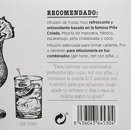 Redbus Piña Colada - 2 x 15 - Total: 30 Sobres: Amazon.es ...