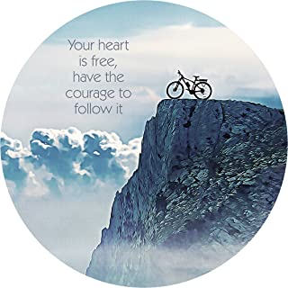 "product image for Next Innovations Motivational Wall Art Courage to Follow It 16"" Round"