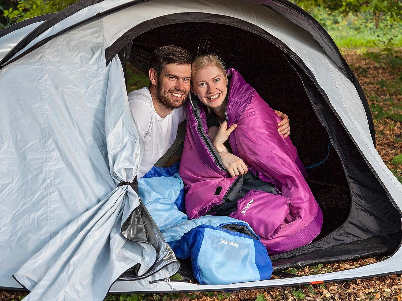 Sac de Compression Inclus KeenFlex Idéal pour Le Camping randonnée randonnée 3 Saisons Chaud léger et Compact étanche avancé Système de contrôle de la Chaleur Sac de Couchage