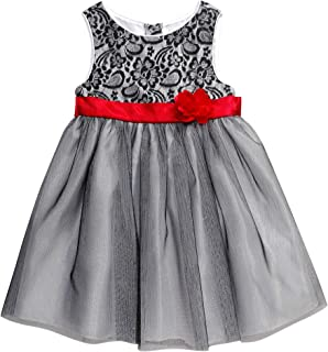 Youngland Baby-Girls Lace Bodice Sparkle Tulle Dress