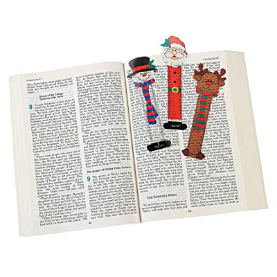 Fun Express 24 Christmas Character Bookmarks/Santa/Snowman/Reindeer/Party Favors/Holiday Stocking Stuffers/2 Dozen/5.25 by OTC: Toys & Games