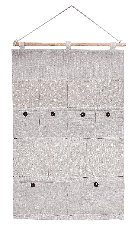 Système d'étagères bellendo à accrocher contre les murs et les portes - Produit multifonctionnel - Espace de rangement pour les salles de bains, les salons et les chambres d'enfants - 13 compartiments - Plusieurs couleurs disponibles beige ISM-Trading