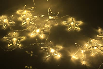 clear star battery string lights 20 led clear star christmas decoration lights with light sensor