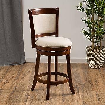 davis fabric swivel backed counter stool