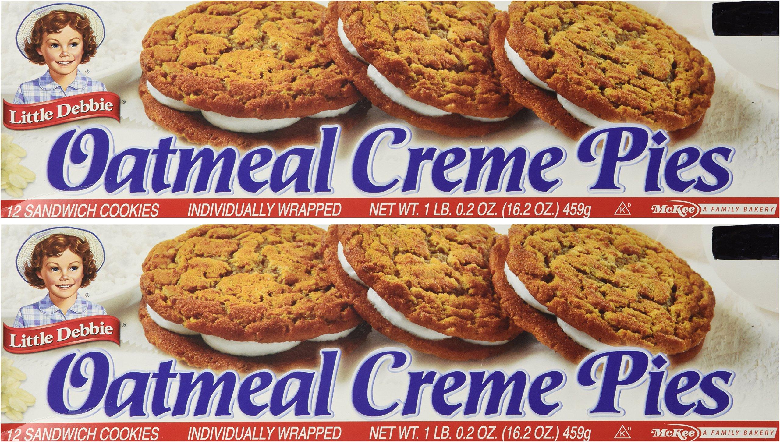 Little Debbie Oatmeal Creme Pies 12 Count Box (2 Boxes) 16.2 OZ