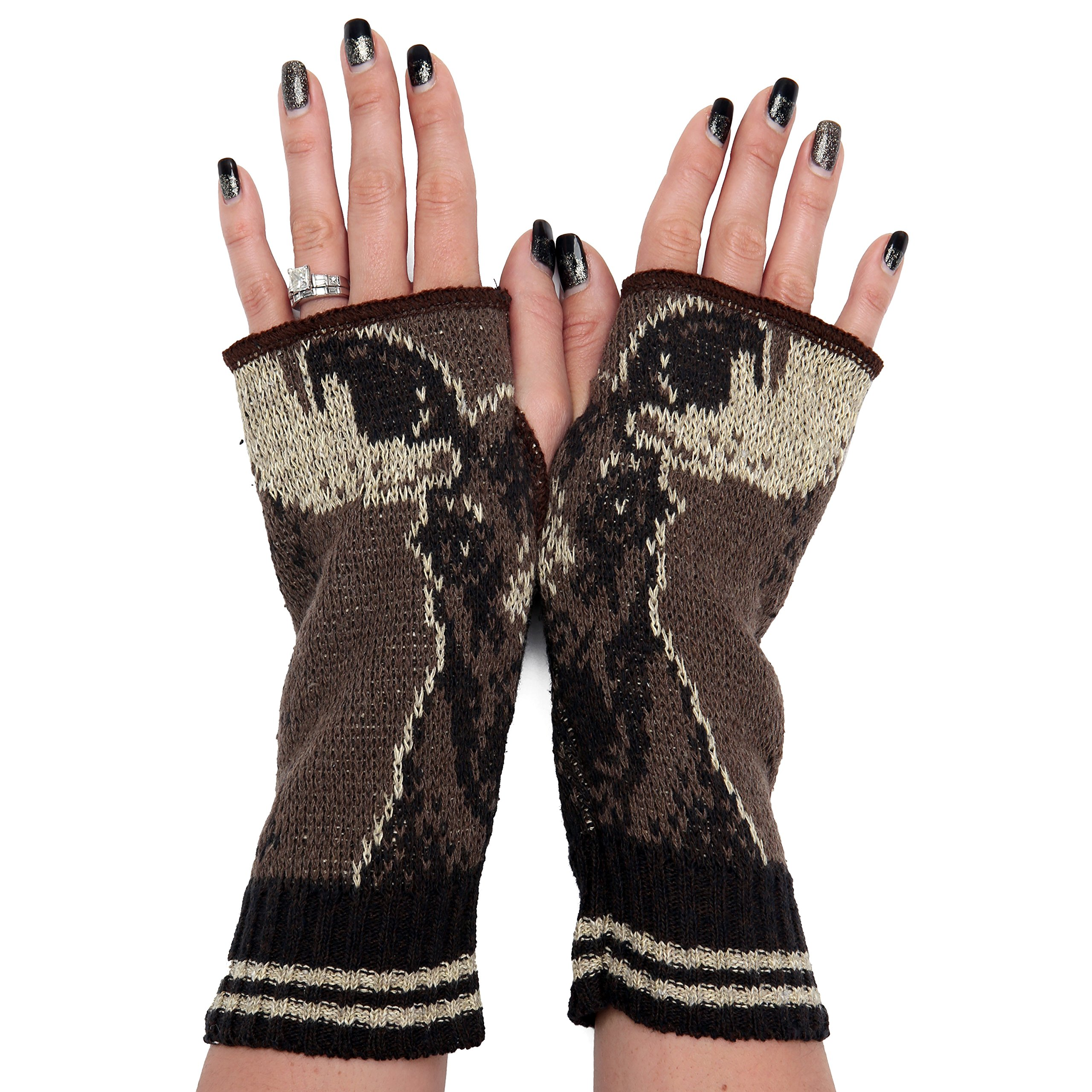 Green 3 Women's Handwarmers Made in USA (Moose)