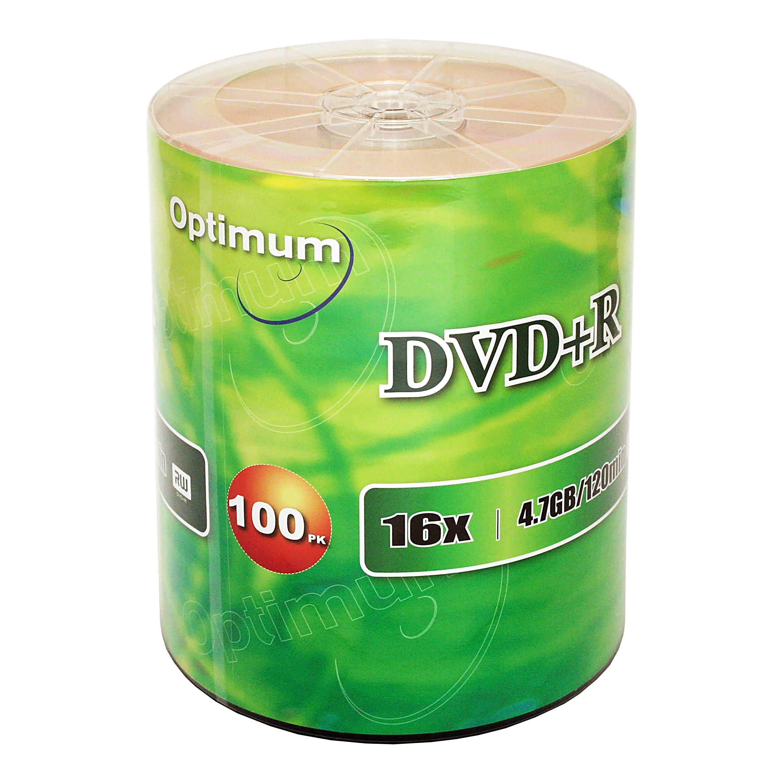 Optimum DVD+R 16x 4.7GB / 120min 100pk by Optimum