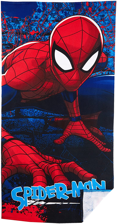 Hasbro Drap de Plage, Telo Mare Bambino Spiderman Drap de Plage Blu (Blue 2) Taglia Unica ER4370