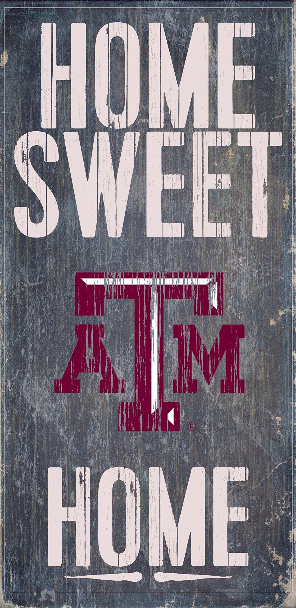 Texas A&M Aggies Wood Sign - Home Sweet Home 6x12