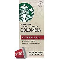 Starbucks星巴克 哥伦比亚浓缩胶囊咖啡 兼容Nespresso咖啡机(12盒,共120 粒)(浓度8)