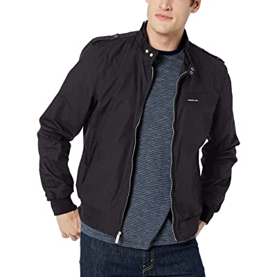 Members Only Men's Original Iconic Racer Jacket at Men's Clothing store
