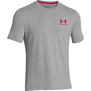 99791969 Under Armour CC Left Chest Lockup, Men's Short-Sleeved T-Shirt - Grey