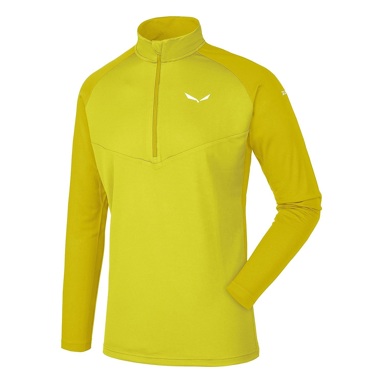 Salewa Sennes T-Shirt Dry M L/S HZ; Grau, 54/2 x, Herren