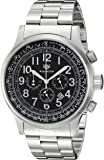 Wellington Men's Quartz Watch with Black Dial Chronograph Display and Black Stainless Steel Bracelet WN302-121