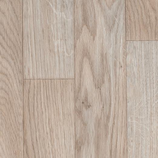 Variante: 4 x 4m 300 und 400 cm Breite Vinylboden PVC Bodenbelag Holzoptik Schiffsboden Eiche wei/ß 200 Meterware