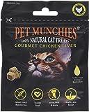 Pet Munchies Cat Treats Natural Gourmet Chicken Liver 10 g, Pack of 8