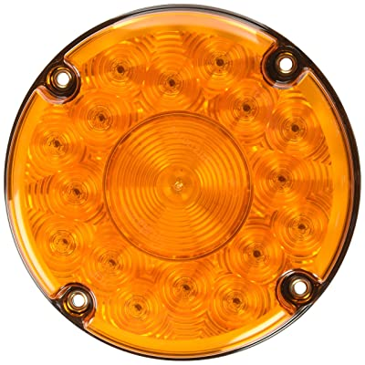 "Grote 55993 7"" LED Stop Tail Turn Light (Single Function without Reflex - Yellow Turn): Automotive"