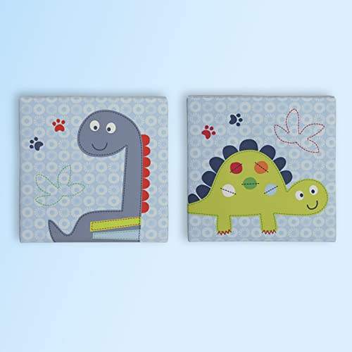 Bananafish Little Dino Wall Art Blue 2 Count