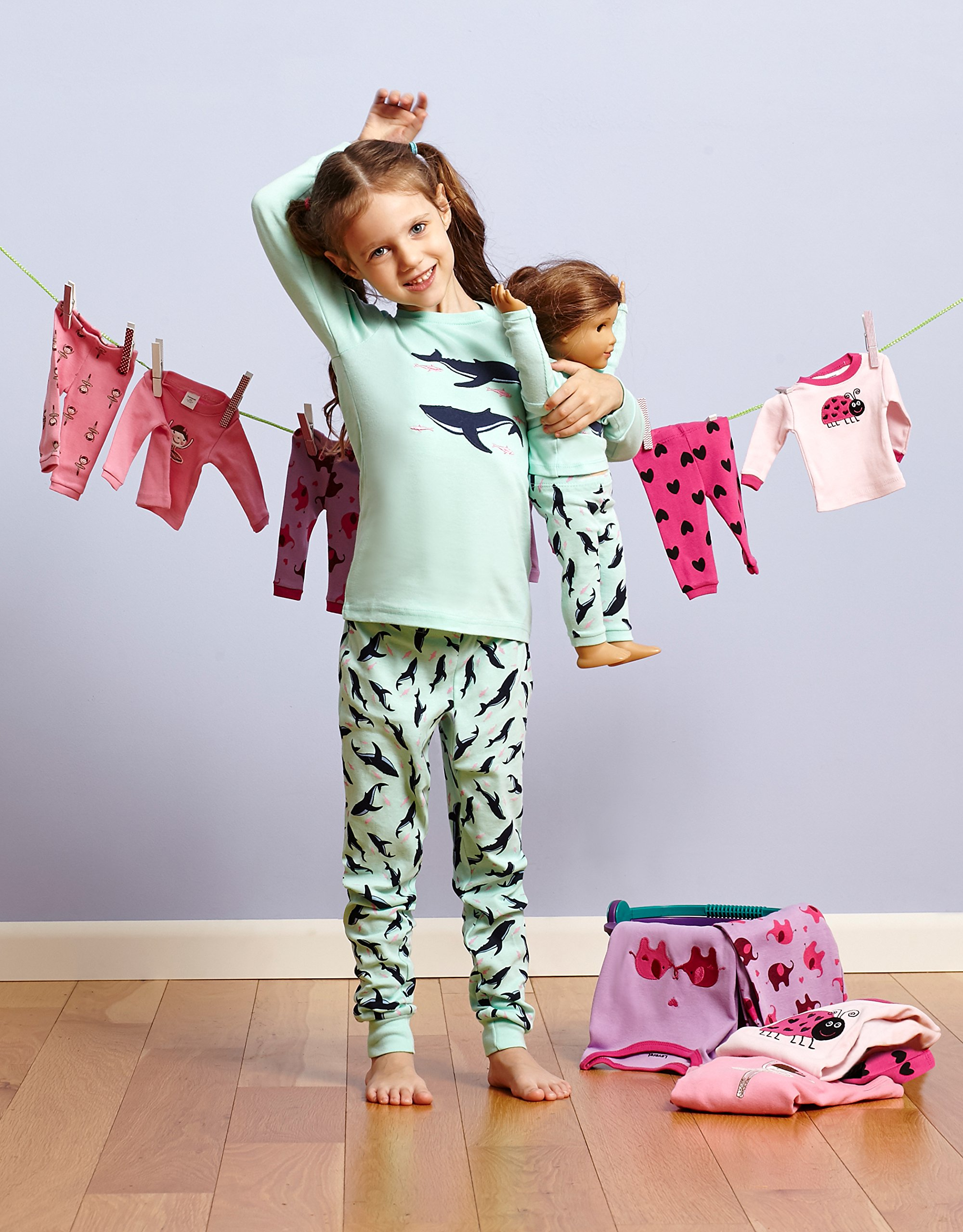 611a09ea6f Leveret Fish Matching Doll   Girl 2 Piece Pajama Set 100% Cotton 8 Years   Pajama  Sets   Clothing