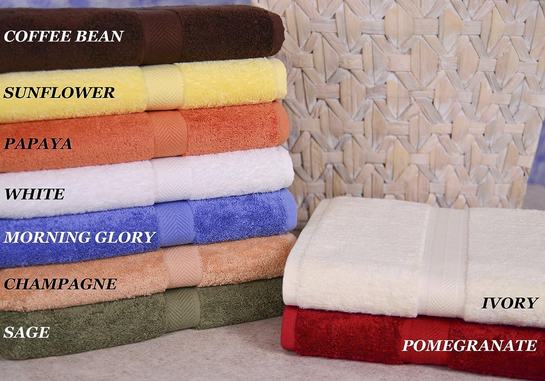 3-Piece Pomegranate Homestead Textiles All American Cotton Line 100-Percent Pima Bath Towel Set