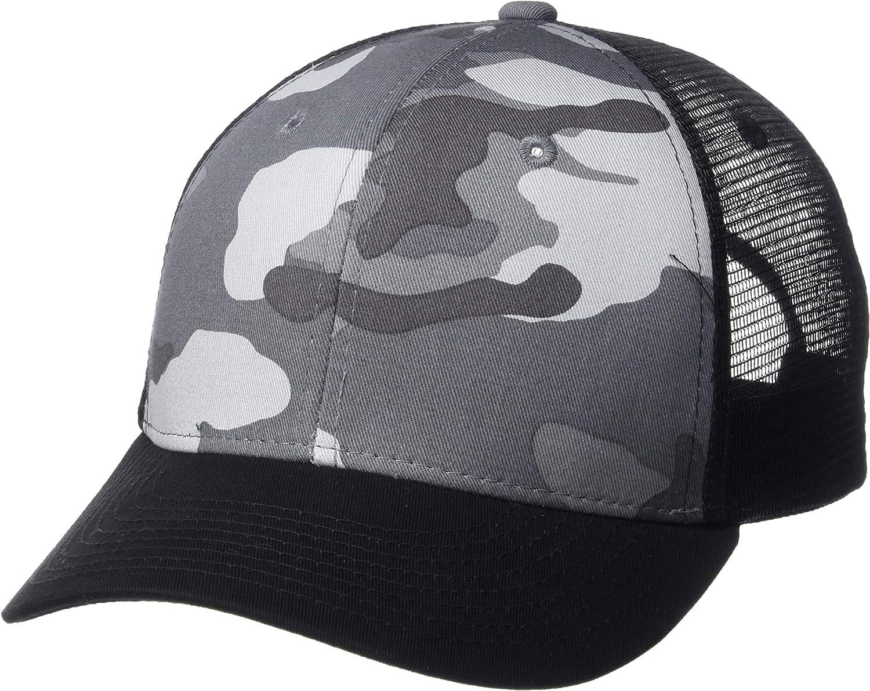 DECKY Curve Bill Trucker Hat Snapback Cotton Nylon Mesh Plain Camouflage Cap