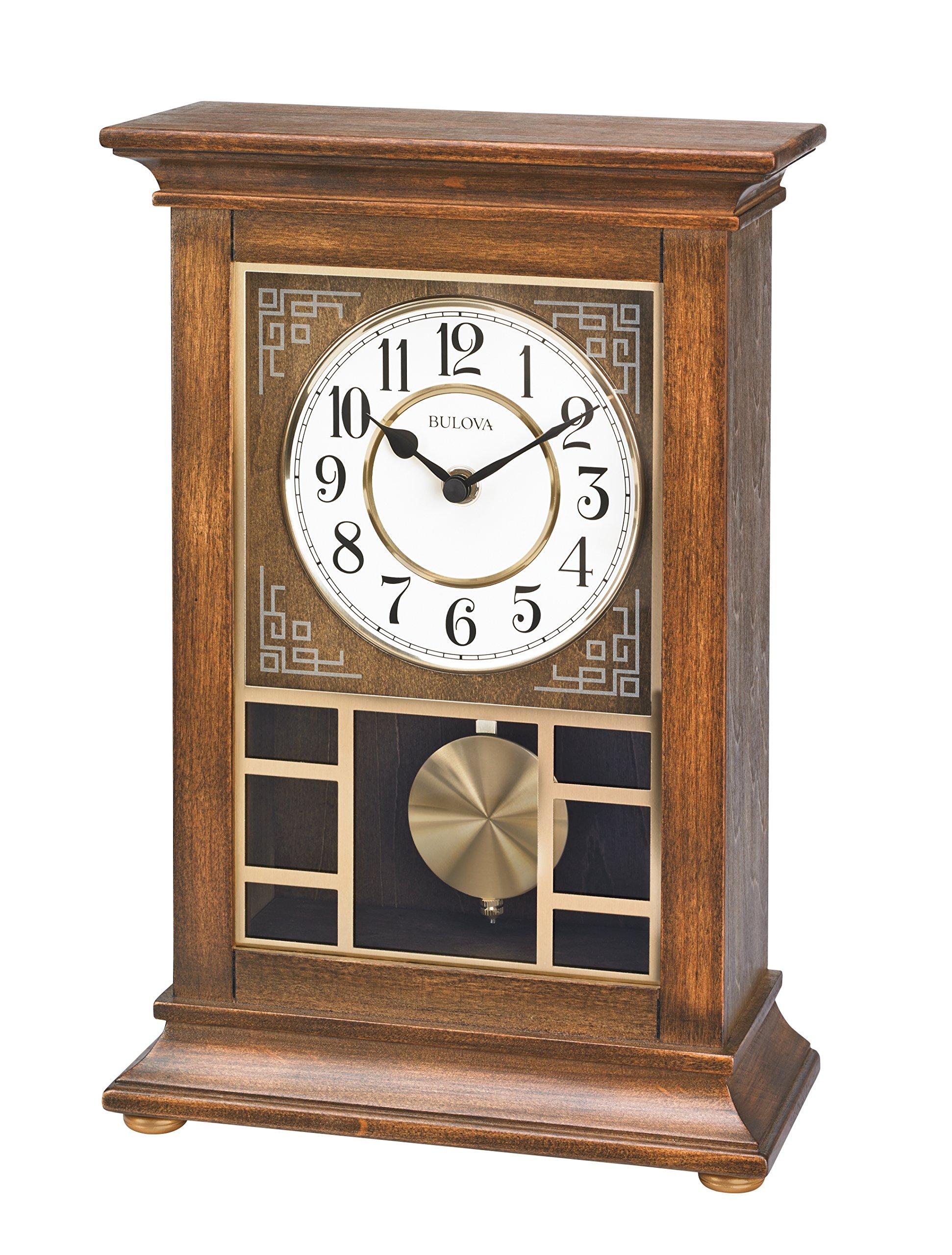 Bulova Stratford Mantel Chime Clock - B1654 by Bulova