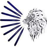 Microline pens - Set of 8 Varying Sized from 0.05 to 1.0mm Micro Line - Best for Drawing, Journaling, Art Projects, Illustrations and Papercraft Designs - Black Ink Fine Tip Pens - by Hieno Supplies
