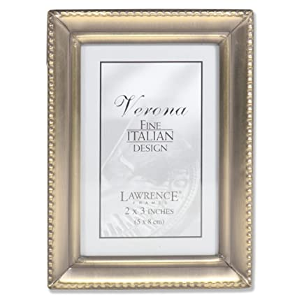 Amazon.com - Lawrence Frames Antique Gold Brass 2x3 Picture Frame ...