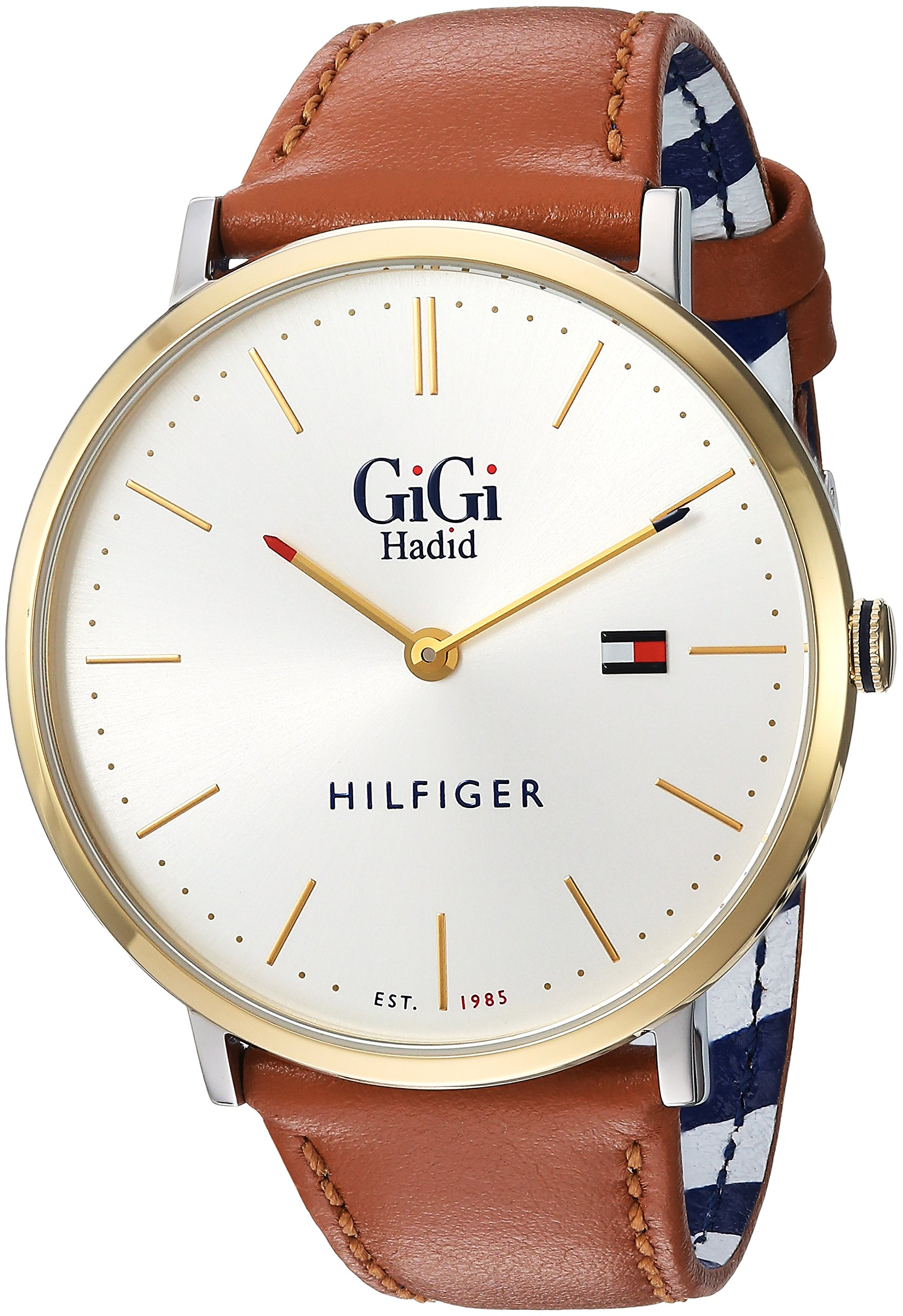 Tommy Hilfiger Women's 'GIGI' Quartz Gold-Tone and Leather Casual Watch, Color:Brown (Model: 1781749) by Tommy Hilfiger
