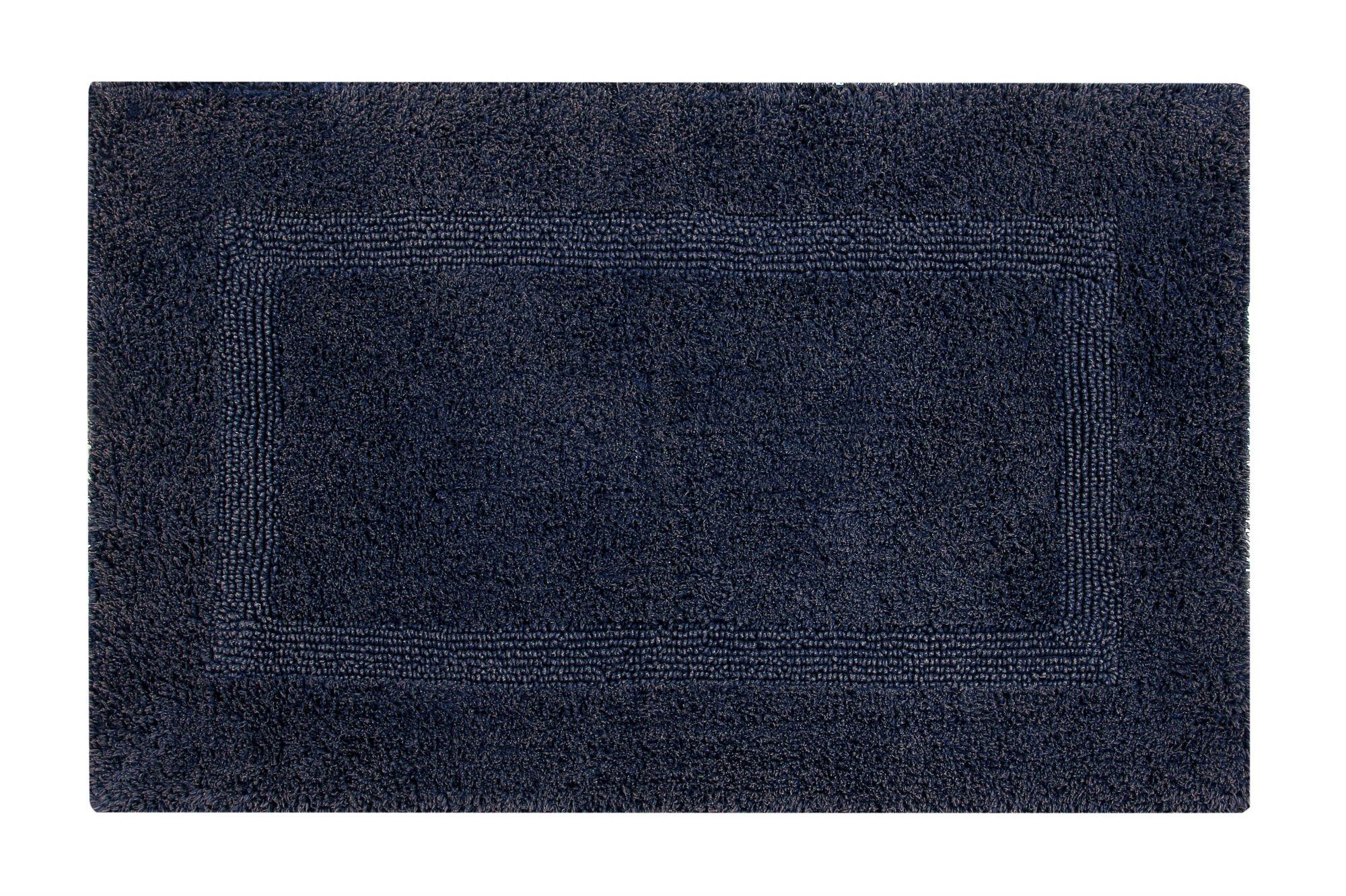 Better Trends/ Pan Overseas BARS2440NV Racine Stonewash 100% Cotton Bath Mat, 24'' x 40'', Navy