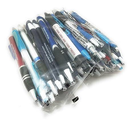 Assorted Misprint Ink Pens Ballpoint Retractable Office Big Bulk Lot (1 Lb)