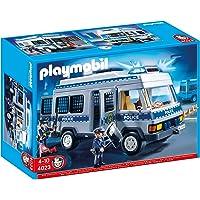 Playmobil - 4023 - Jeu de construction - Fourgon équipé et policiers