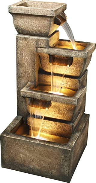 Amazon.com : Bond Y98881 Ashboro 33 inch Zen Fountain : Tabletop ...